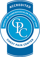 accreditated chest pain center seal