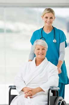 photo of nurse and patient